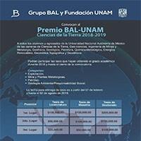Premio BAL- UNAM Ciencias de la Tierra.