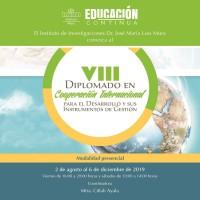 VIII Diplomado en Cooperación Internacional para el Desarrollo y sus instrumentos de gestión.