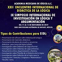 XXII Encuentro Internacional de didáctica de la Lógica y el IX Simposio Internacional de Investigación en Lógica y Argumentación